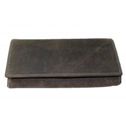 Kožená hnědá peněženka Brown