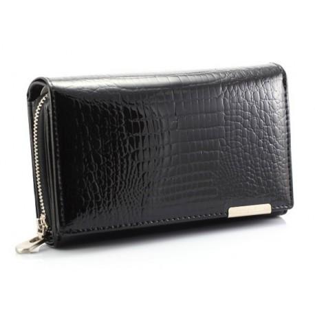 Kožená lesklá peněženka