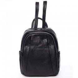 Kožený batoh černý