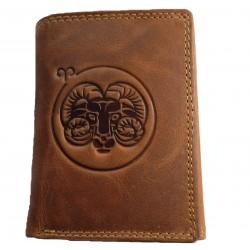 Kožená peněženka znamení zvěrokruhu - Beran