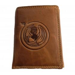 Kožená peněženka znamení zvěrokruhu - Panna