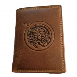 Kožená peněženka znamení zvěrokruhu - Štír