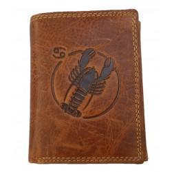 Kožená peněženka znamení zvěrokruhu - Rak