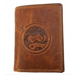 Kožená peněženka znamení zvěrokruhu - Ryba