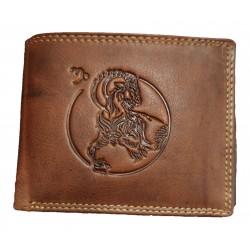 Kozoroh - Kožená peněženka znamení zvěrokruhu