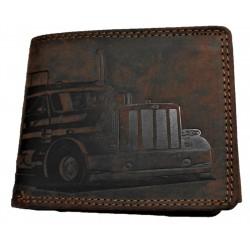 Kožená peněženka kamion