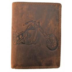 Kožená peněženka motorka