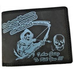 Kožená peněženka smrtka
