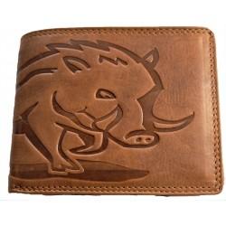 Kožená peněženka s divočákem