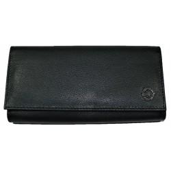 Kasírka - kožená černá peněženka