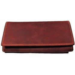 Kožená červená peněženka