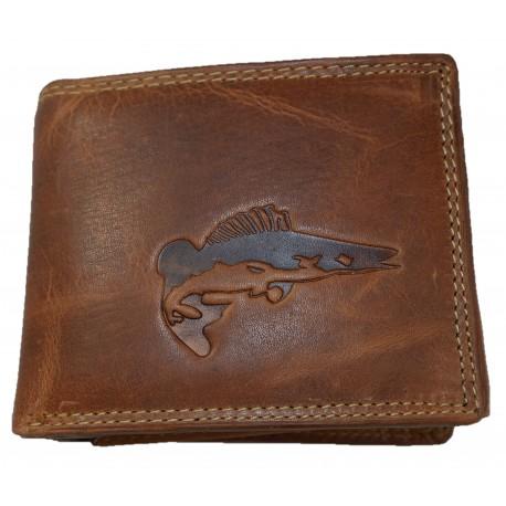 Kožená peněženka štika