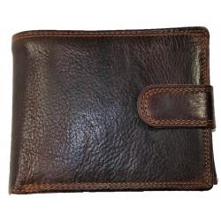 Kožená hnědá leštěná peněženka