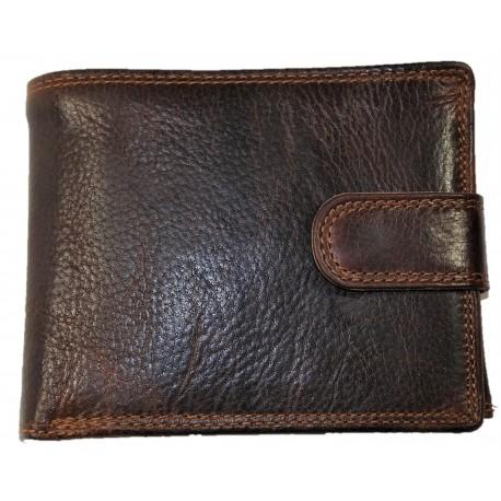 Kožená hnědá peněženka
