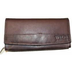 Kožená peněženka měkčená hnědá