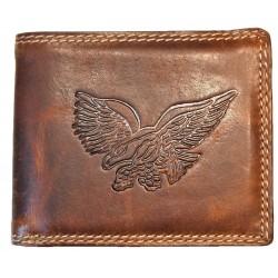 Kožená peněženka dravec
