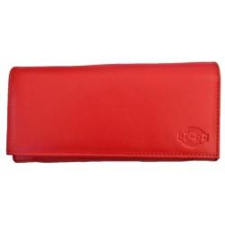 Kasírka - kožená červená peněženka