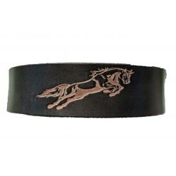 Kožený černý pásek horse