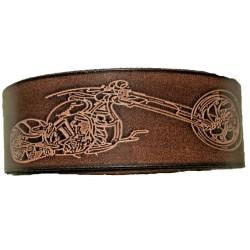 Kožený pásek motorka