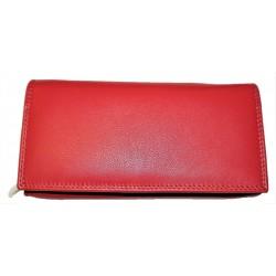 Kožená peněženka red