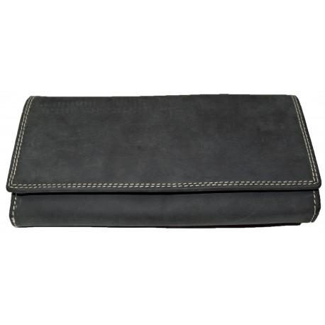 Kožená šedá peněženka