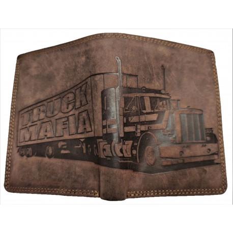 Kožená peněženka kamion výška