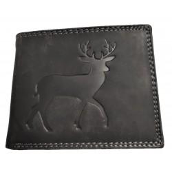 Kožená peněženka jelen šedý