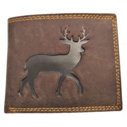 Kožená peněženka jelen hnědý