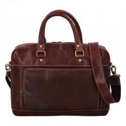 Pánská kožená cestovní taška hnědá