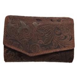 Dámská kožená peněženka hnědá