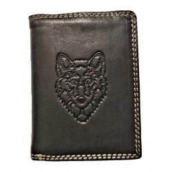 Pánská kožená peněženka vlk