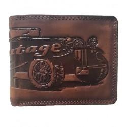 Kožená peněženka veterán