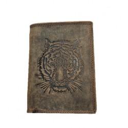 Kožená peněženka tygr