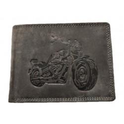 Kožená peněženka motorkář