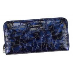 Dámská kožená penálová peněženka modrá