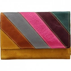 Dámská kožená peněženka mix - žlutá