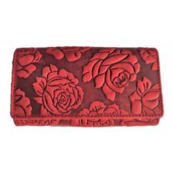 Dámská kožená peněženka růže