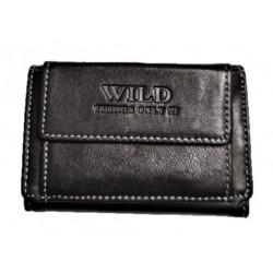 Kožená mini peněženka hnědá