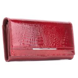 Dámská kožená lakovaná peněženka