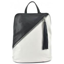Dámský kožený kabelko - batoh světle šedý